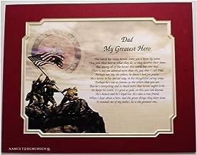 Marine's Gift for Dad My Greatest Hero Birthday Veterans Day Military Marines