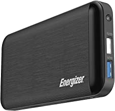 Energizer UE10030MP_WE Ultimate 18W Fast Charging, High Capacity 10000mAh Lithium Polymer, 1 USB-C and 2 USB-A, Power Bank w/Power Delivery 3.0 for iPhone, Samsung, Wearables, Earbuds, Black