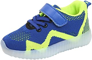 Trainers Sneakers Sh OES for Children Kids with Lights Soft Bottom Without Laces, Running Shoes with Lights Non-Slip, Children's Shoes 70% Discount, FULLSUNNY