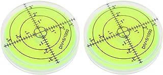 2PCS Bubble Level Bubble Spirit Levels 60x12mm Circular Bullseye Bubble for Leveling Camera Tripod Phonograph Furniture Me...