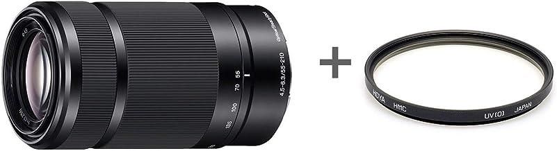 Sony SEL55210 - Objetivo para Sony de Distancia Focal 55-210m, Negro +Filtro de Rosca HMC Haze UV de 49 mm