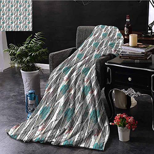 GGACEN Kinderdeken Abstract Patroon met ananas en driehoek Geometrische vormen Trendy Pastel Art Omkeerbare Zachte Stof voor Bank Sofa Eenvoudig Verzorging
