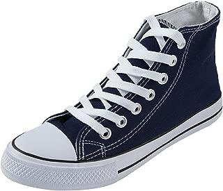 DEEBAI Women's Unisex Fashion Lace up Canvas Sneaker High Top Classic Casual Walking Shoes