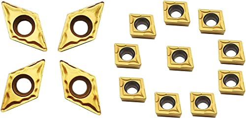 high quality ASZLBYM 10PCS 2021 DCMT21.51/DCMT070204 popular 10PCS CCMT21.51 / CCMT060204 Indexable Soild Carbide Turning Insert Blade For Lathe Tool Holder outlet online sale