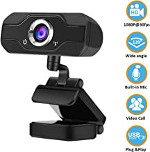 1080P�Webcam�with�Microphone, Full�HD�Web�Camera�for�Computers�with�120-Degree�Widescreen, Adjustable�Focus,�Live�Streaming�Computer�Web�Camera�with�USB�PC�Webcam�Video�Calling�Recording�Conferencing