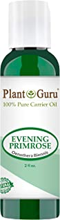 Evening Primrose Oil 2 oz Cold Pressed 100% Pure Natural Carrier - Skin, Face, Body and Hair Growth Moisturizer. Great For DYI Creams, Lotions and Lip balms.