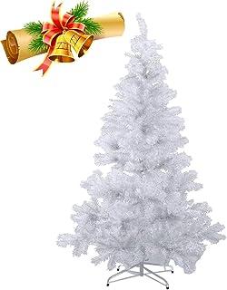 MCTECH 210 cm PVC Árbol de Navidad Artificial Blanco Árbol de Navidad Blanco Árbol de Decoración con Soporte (210 cm)