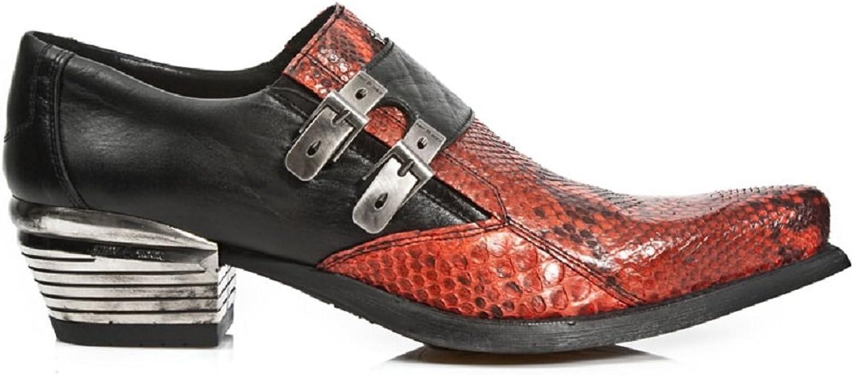 New Rock Herren Dollas Leder Mehrfarbig Stiefel M.7934PT-S5 B00O392JP8  | Deutschland