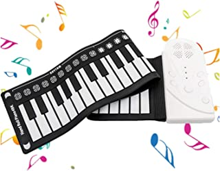49 Key Electric Music Keyboard Piano with USB & MP3 Input Portable Electric Roll Up Piano Gift for Kids