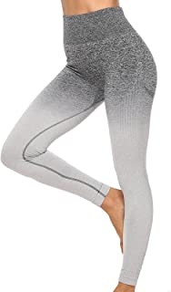 Sports Outdoor Yoga Clothes Gradient high Elastic Nylon Seamless Fitness Casual Yoga Pants Women's Sports