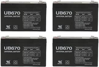 Universal Power Group 6V 7Ah G670 GP672 ES7-6 LC-R067R2P PS-670 Battery - 4 Pack