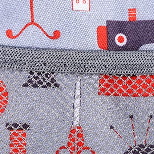 Astibym Estuche duro para máquina de coser, bolsa de coser para máquina de coser, bolsa de transporte exquisitos patrones evitan colisiones duraderas para máquina de coser