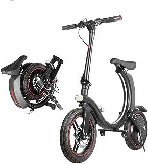 Fällbar elektrisk cykel för vuxna män E cykel elektrisk cykel vik elektriska cyklar damer 350W 25KM / H 14 tum max körsträ...