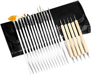 Solustre Nail Brushes Set Nail Art Design Dotting Painting Drawing Polish Brush Pen Tools Women Manicure Tools Accessories