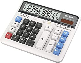 $21 » Desktop Calculator, Extra Large LCD Display Computer Button 12 Digits Accounting Calculator (OS-2135 Pro-A)