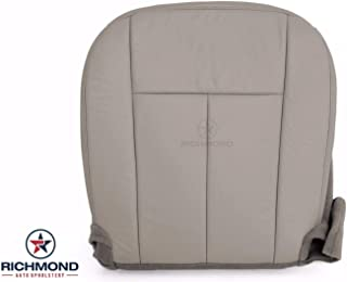 Richmond Auto Upholstery - Driver Side Bottom Replacement Genuine Leather Seat Cover, Gray (Compatible with 2007-2014 Ford Expedition XLT) (Gray) (Medium Light Stone Gray)