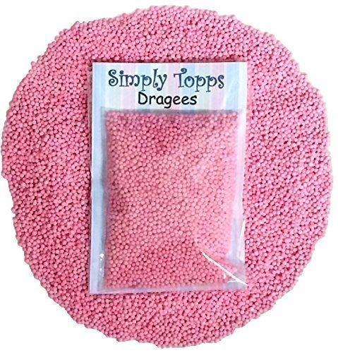 Simply Topps - Baby Rosa Mini Zuckerkugeln 30g ca. 1mm Durchmesser für Kuchen oder Törtchen Cupcake Dekoration