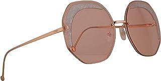 فيندي FF0358/S نظارة شمسية لون مرجاني مع عدسة زهرية 63 مم 1N5U1 0358S FF0358S FF 0358/S