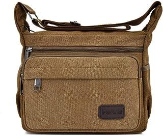 BeniNew حقيبة ظهر قماشية بشكل قطري للرجال عمل كاجوال