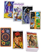 PROKTH Tarot Familiars 78 Cards Deck Board Game Wheel of The Year Read Fate Tarot Card for Personal