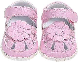 [Domybest] ベビーサンダル 女の子 キッズシューズ 幼児靴 滑り止め 歩く練習 赤ちゃん 柔らかい 可愛い 快適 ソフトボトム マジックテープ 出産お祝い 春 夏 フラワー 人気