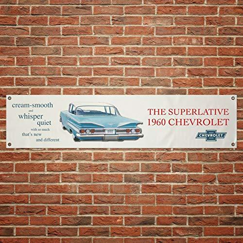 60 Chevrolet Vintage Flagge PVC Werkstatt Garage Größe: 1300 mm x 300 mm