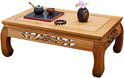RANRANJJ Coffee Tables Solid Wood Tatami Bay Window Table Japanese Chinese School Table Balcony Low Table Tea Table Simple Tea Table (Size : 60 * 40 * 25cm)