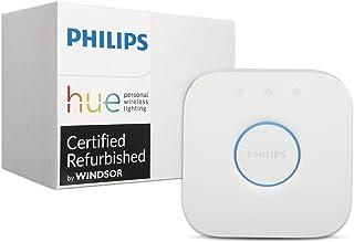 Philips Hue Smart Bridge - 2nd Generation, Latest Model - Compatible with Alexa, Apple HomeKit and Google Assistant (Renewed)