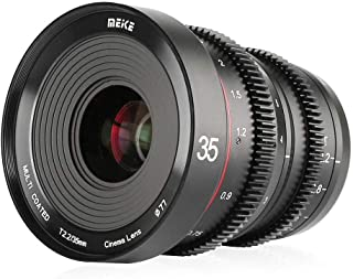 Meike MK 35 mm T2.2 lente de cámara de enfoque manual compatible con cámaras Olympus Micro 4/3 Panasonic Lumix