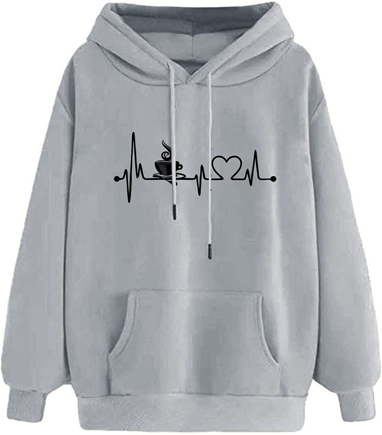 Women's 67% OFF Max 61% OFF of fixed price Casual Pullover Sweatshirts Plus Loose Heart Size Print