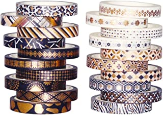 MOPOIN 20 Rouleaux Washi Tape Set, Washi Tape Décoratif Masking Tape Papier Scrapbooking Scotch Decoratif Ruban Adhésif Wa...