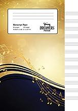 Manuscript Paper: Yellow Notes | A4 Blank Sheet Music Notebook (1)