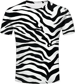 liangjinyan 3D Men T Shirt Texture Zebra Stripes Printed Tops Tees Graphics Pattern