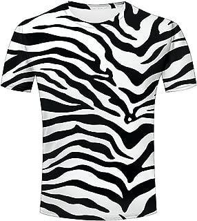 3D Men T Shirt Texture Zebra Stripes Printed Tops Tees Graphics Pattern