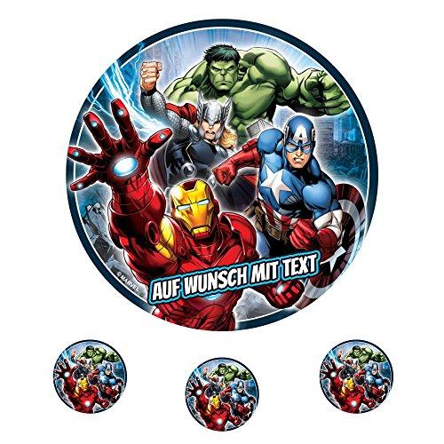 Tortenaufleger Fototorte Oblate Tortenbild Geburtstag eßbar Marvel Avengers (Oblatenpapier)