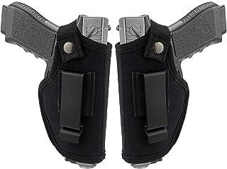 Kwnraor Glock IWB Holster, Universal Pistol Holster OWB Waistband Holster Fits S&W M&P Shield/Glock 26 27 29 30 33 42 43 /Ruger LC9 & All Similar Handguns (2 Pack)