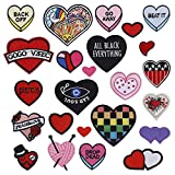 Iron On Patches Embroidered Love Heart Sew On Patch Decorative Repair Patches Appliques