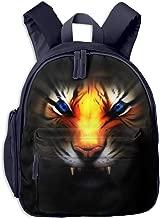 OuJin Baby Child Ferocious Golden Tiger Preschool Schoolbag Bag Backpack Satchel Rucksack for Girls Navy