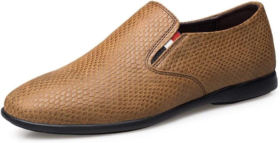 Enjoy4Beauty- Driving Loafer Spring new work one after another specialty shop for Men Boat Round Toe Shoes Slip-o
