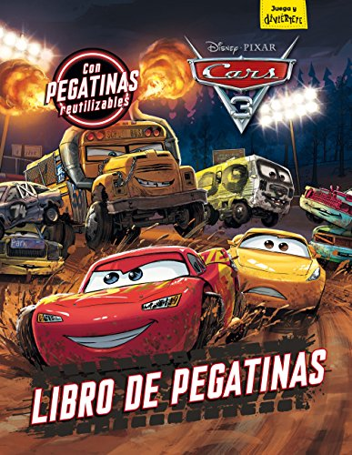 Cars 3 Libro pegatinas Con pegatinas reutilizables Disney Cars