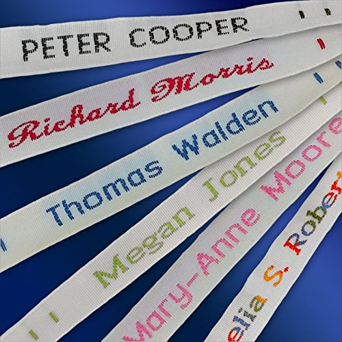 144 Woven Sew-on Name Tapes/Tags for School/Camp/Care Home