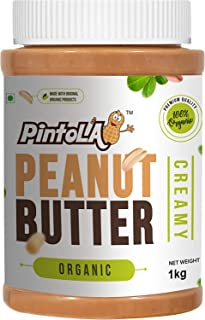 Pintola Organic All Natural Creamy Peanut Butter, 1kg