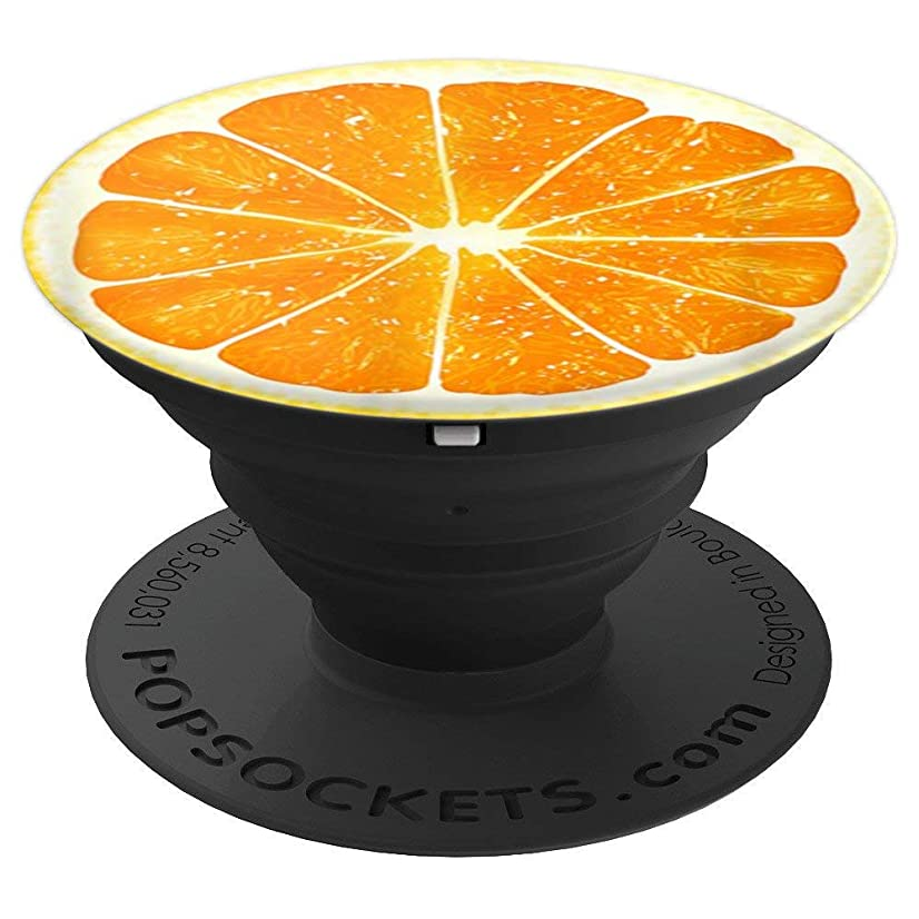 Giant Orange Slice Fruit T-Shirt Fun Foodie Vegan Summer Tee - PopSockets Grip and Stand for Phones and Tablets