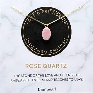 [Premium Gemstone] Rose Quartz necklace, Best friend necklace, valentines day necklace, friendship necklace, Gold dainty necklace, pink necklace, natural stone, healing crystal, mothers day necklace