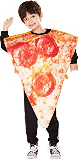 ReneeCho Kid's Pizza Slice Costume Halloween Boys Food Mascot Pepperoni Girls Outfits Funny