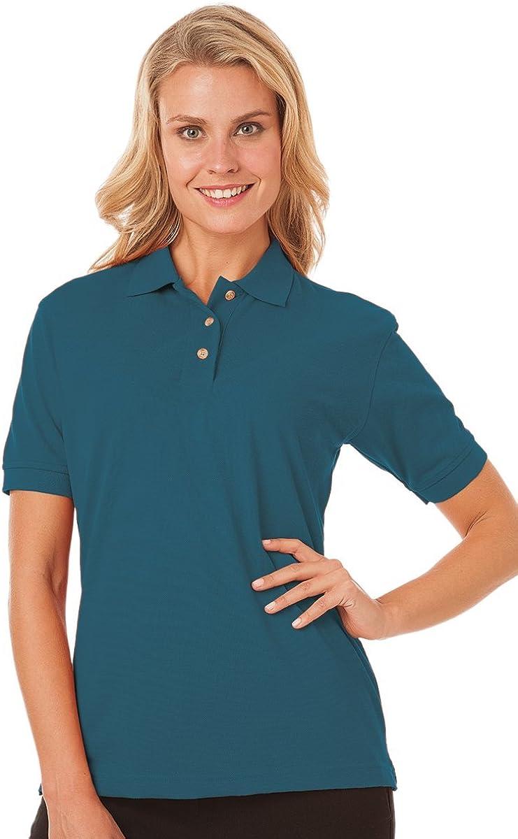 Blue Generation BG6204 Woman Short Sleeve Superblend Polos-Polo Shirts (4XL, Teal)