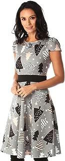 YIBEIANYU Ms. Autumn Christmas Print Dress Round Neck Dress In Europe And America 22897