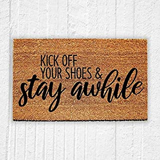 LSS Trading Kick Off Your Shoes and Stay Awhile Doormat/Funny Welcome Mat 18
