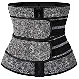 FGDJTYYJ Cinturón de Entrenador de Cintura para Mujer Control de Abdomen - Recortadora de Cintura para Adelgazar (Color : Gray, Size : XL)