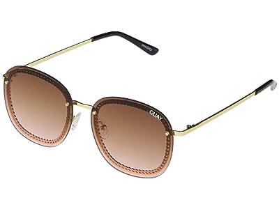 QUAY AUSTRALIA Jezabell Chain (Gold/Brown Pink) Fashion Sunglasses